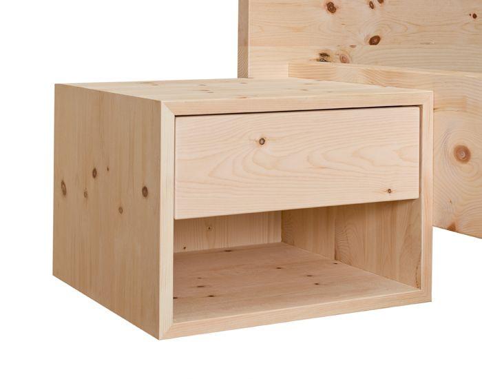 Zirbennachtk stchen fly3 by schr cker das zirbenbett for Sideboard zirbenholz