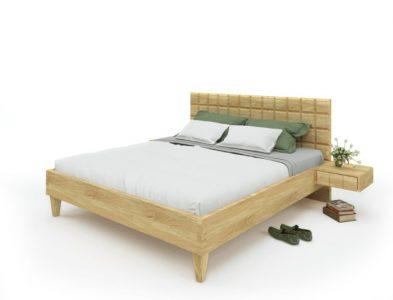 Eichenbett Quader-Design