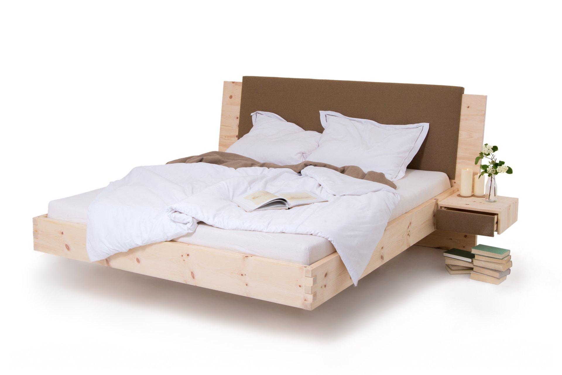 zirbenbett loden schwebend modern metallfrei schr cker zirbenbett zirbenbett schwebend. Black Bedroom Furniture Sets. Home Design Ideas