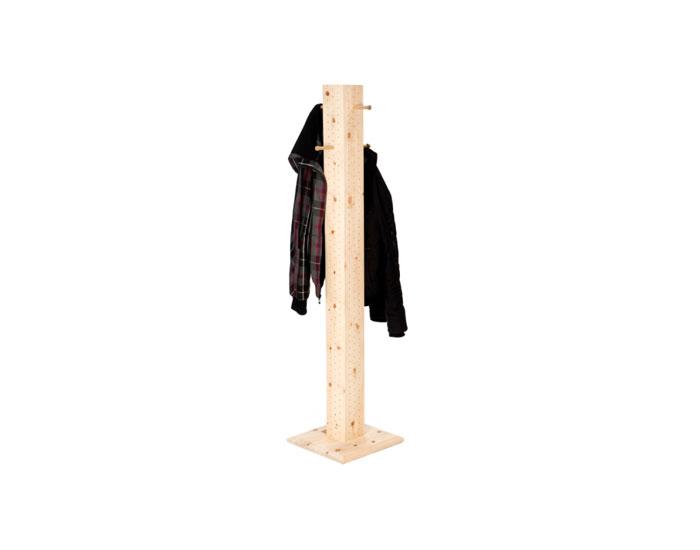 Zirbenkleiderständer aus massiven Zirbenholz
